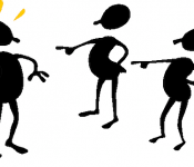 Image of people pointing fingers at person