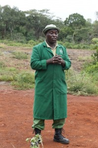 Edwin Lusichi, head baby elephant keeper